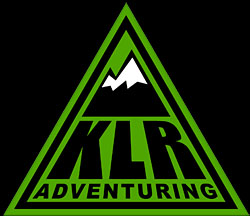 KLR Adventuring Logo and Home Link